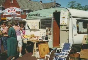 Caravan op de markt